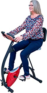 PLENY Foldable Semi-Recumbent Exercise Bike w/Full High Backrest, 330 lbs Weight Capacity