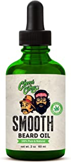 Cheech and Chong SMOOTH Beard Oil Made With Hemp Seed Oil - Unscented (2 oz) 100% Pure & Natural Beard & Mustache Oil Smooths, Softens, Adds Shine, Conditions and Moisturizes All Facial Hair