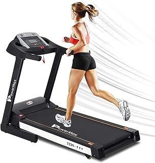 PowerMax Fitness (4.0HP Peak) Motorized Foldable, Electric Treadmill (DIY and Virtual Assistance)【LED Display | BMI | Spri...