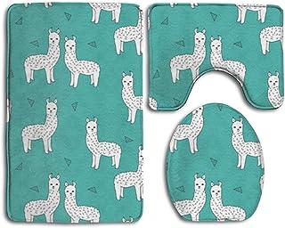 DAWN&ROSE - Alfombra de baño Antideslizante y Absorbente con diseño de Llamas de Alpacas