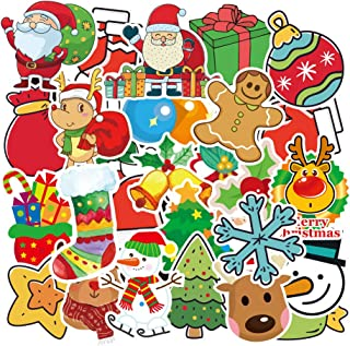 Baybuy Xmas Stickers Party Merry Christmas Decorations Waterproof Cartoon Santa Claus Sticker Snowman Snow House Tree Stockings Window Clings Set