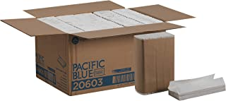 Pacific Blue Basic C-Fold Paper Towels (previously branded Acclaim) by GP PRO (Georgia-Pacific), White, 20603, 240 Towels Per Pack, 10 Packs Per Case
