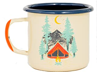 United By Blue - 12oz Enamel Steel Mug - Great for Coffee, Tea, Camping - Hand Dipped - Campfire and Stovetop Safe