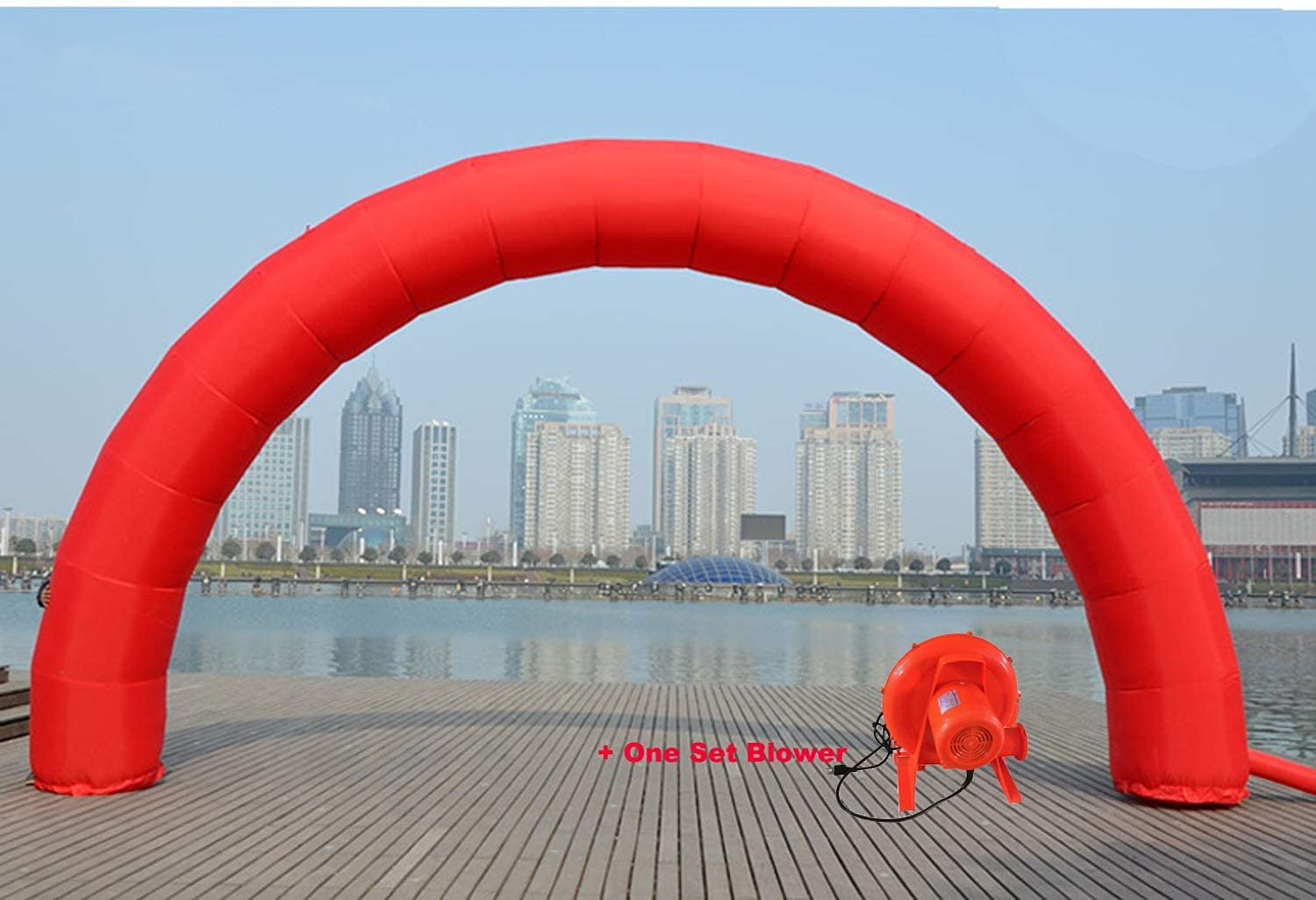 INTBUYING 19.6x9.8ft Red National uniform free shipping store Color Inflatable Advertising Arch with