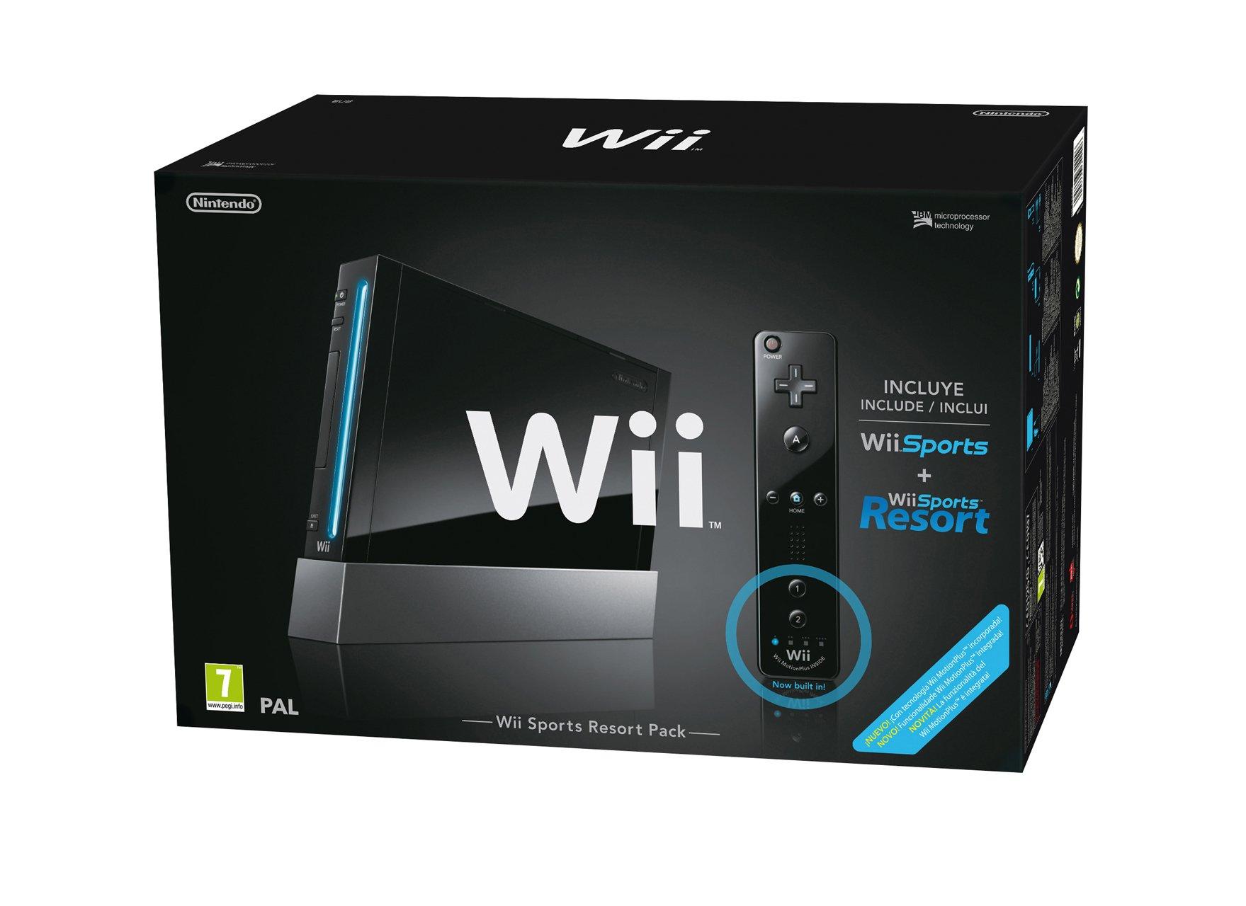 Wii Sports Resort Pak Plus - Negro: Amazon.es: Videojuegos