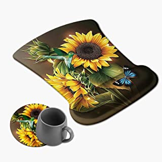 Gaming Mouse Pad with Gel Wrist Support, Ergonomic Soft Wrist Rest Non-Slip Rubber Base Easy Typing for Computer Laptop Ma...