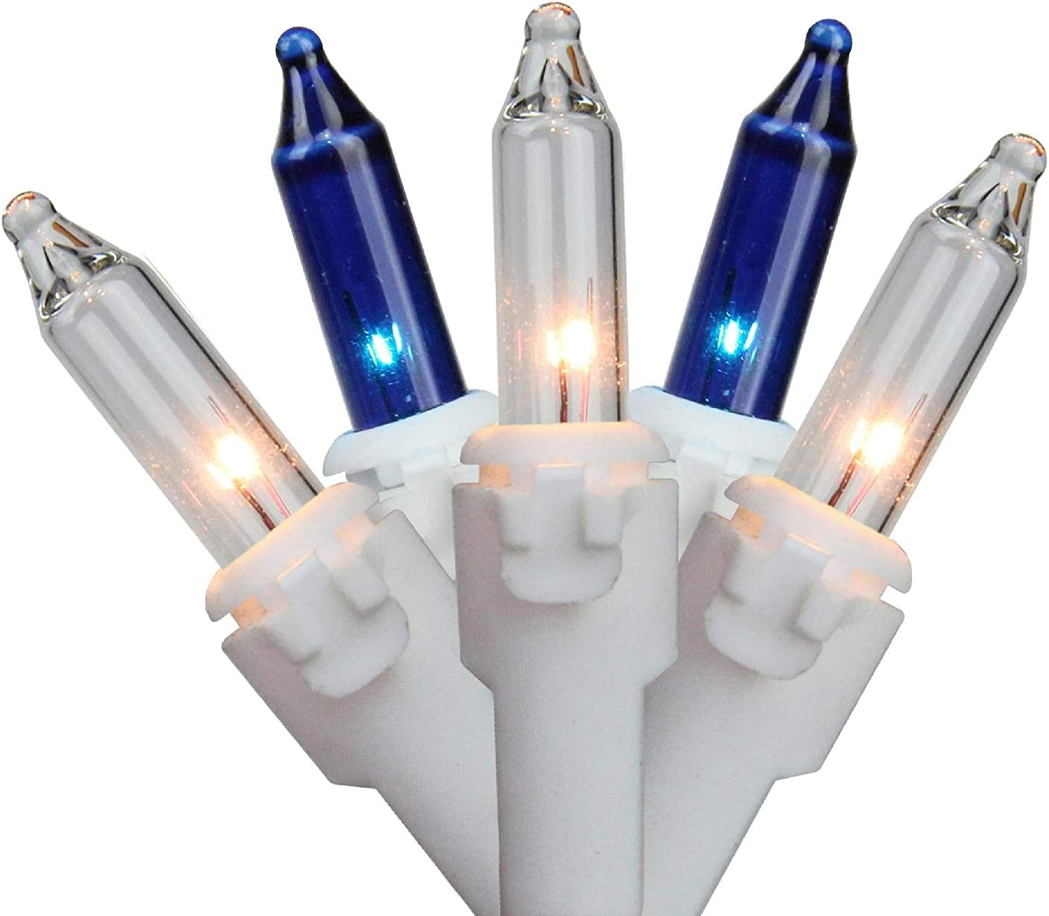 50-Count Blue and Clear Mini Christmas 10ft White Light Set Save Max 80% OFF money Wir
