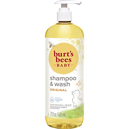 Burt's Bees Baby Shampoo & Wash, Original Tear Free Baby Soap - 21 Ounce Bottle(pack of 1), packaging may vary.