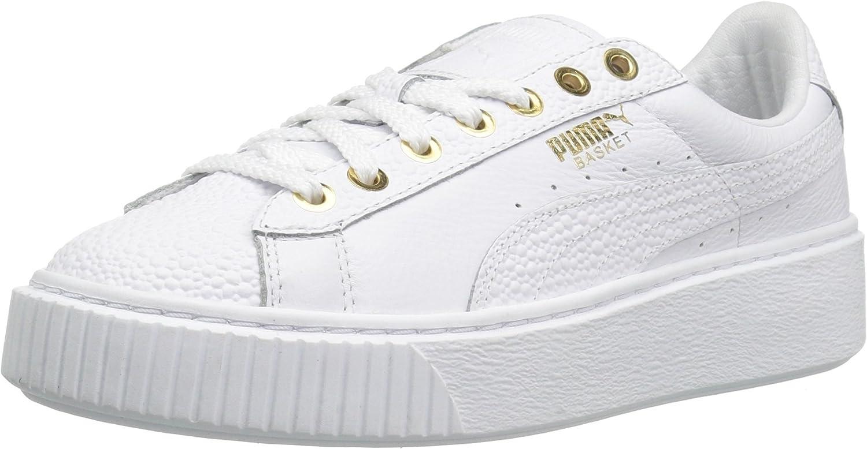 PUMA Women's Basket Platform Pearlized Wn's Fashion Sneaker