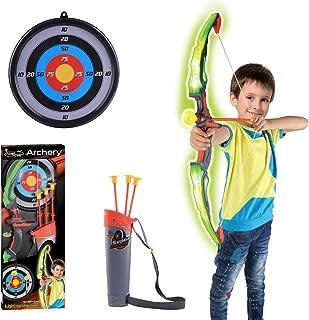comprar comparacion TENGER - Juego de flecha y arco para niños, con arco y diana, juguete de entrenamiento para niños, con flechas y cara obje...