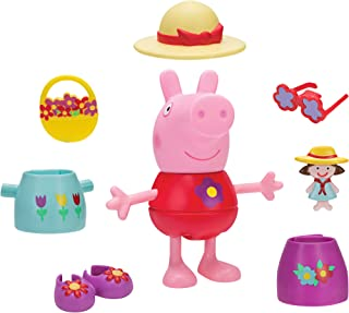 Peppa Pig Spring Deluxe Dress & Play Large Figure Spring Dress and Play, 5 inches