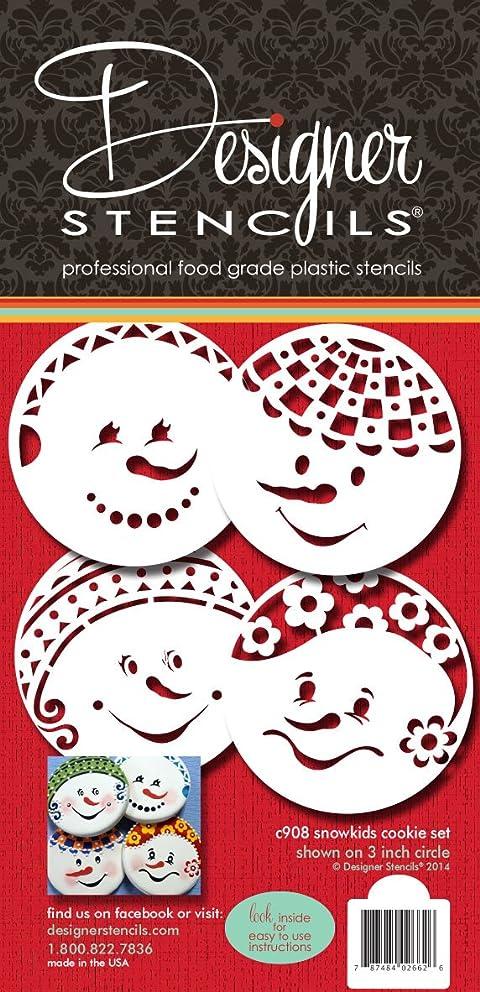 Snowkids Cookie Stencil Set by Designer Stencils