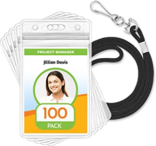 Details about  /Conference Name Badge Holder PVC Wallet 60x90 /& ID Card Strap Clip FREE P/&P Lot