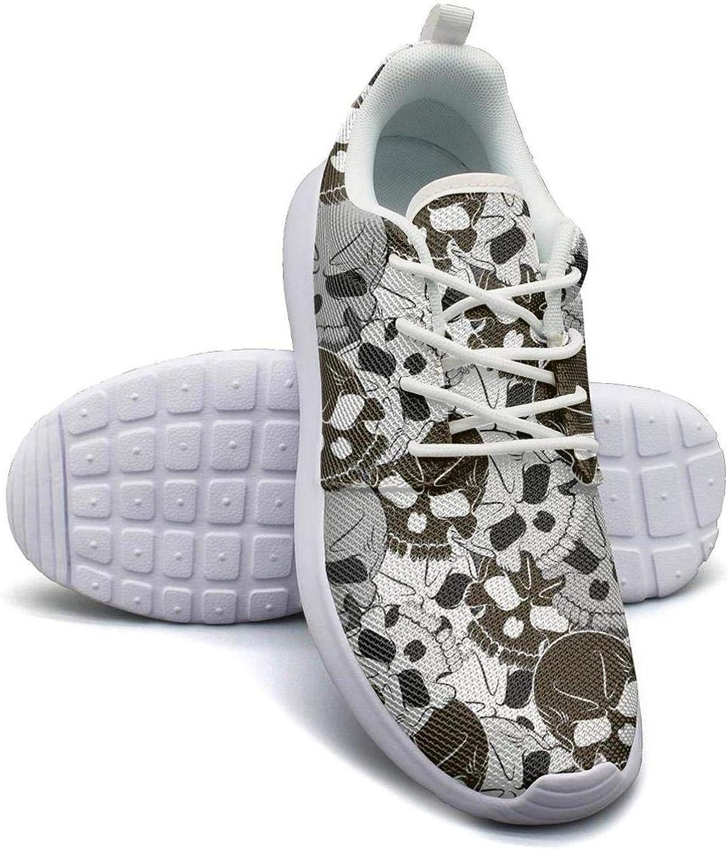 Gjsonmv Skull DeviantArt Design mesh Lightweight shoes Women Cool Sports Basketball Sneakers shoes