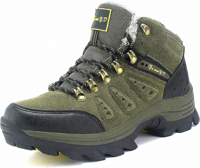 ZHENZHONG Women's Warm Faux Fur Lining Trail Hiking Mountain Sports Boots shoes
