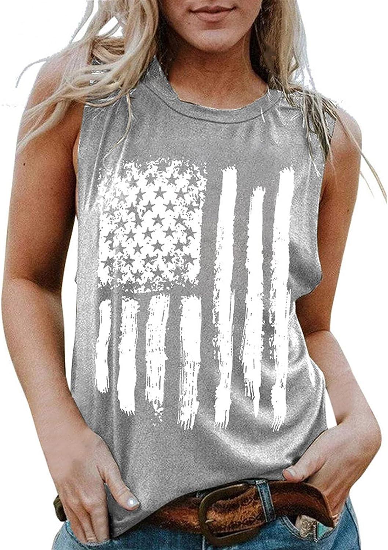Womens Tank Tops, Women Sleeveless Printing Shirt Casual Round Neck Loose Tank Top Soft Comfortable Top