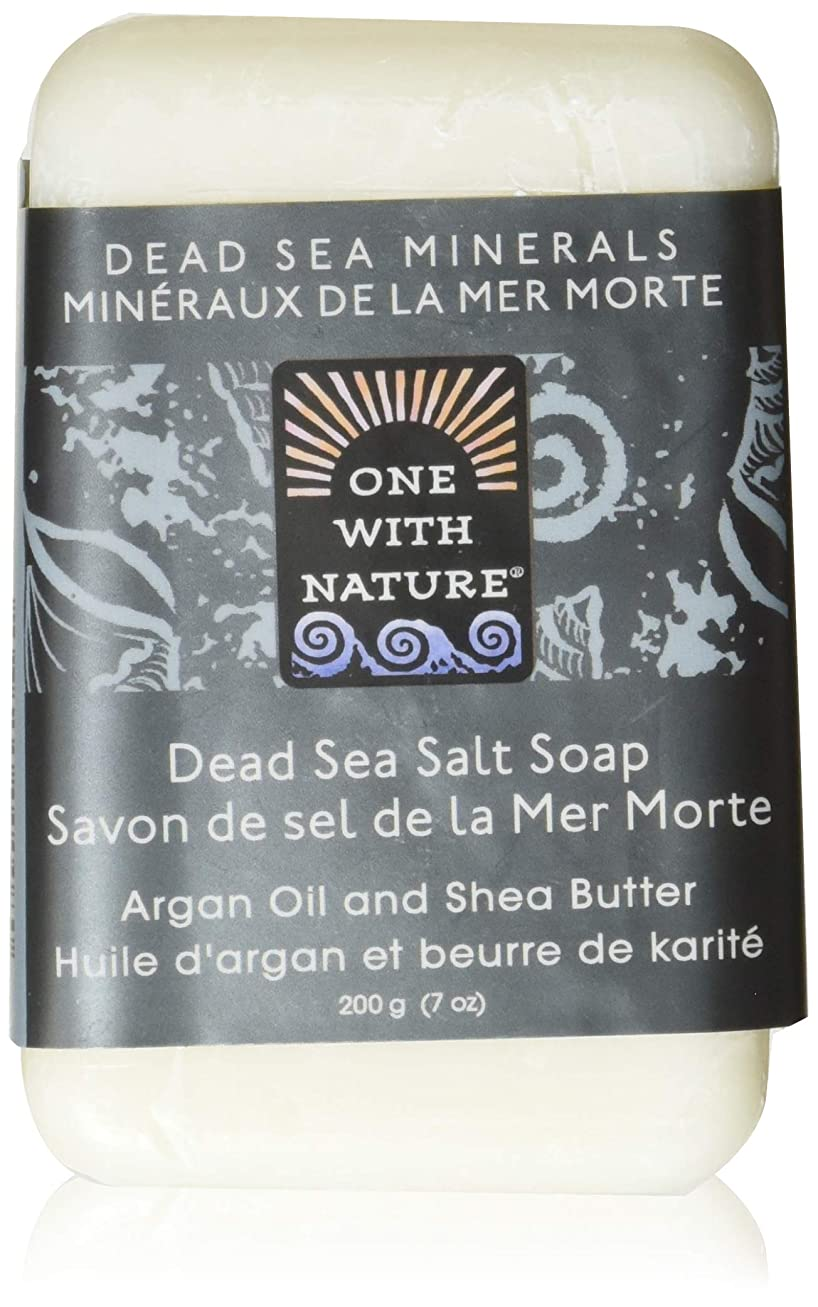 認証マイクロプロセッサ再開Dead Sea Mineral Dead Sea Salt Soap - 7 oz by One With Nature