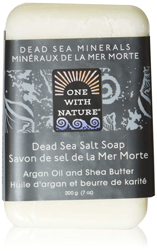動く意欲出撃者Dead Sea Mineral Dead Sea Salt Soap - 7 oz by One With Nature