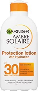 Garnier Ambre Solaire Ultra-Hydrating Shea Butter Sun Protection Cream SPF30, Hydrating High Sun Protection Lotion SPF30 200 ml