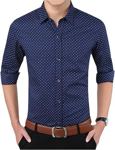 Formal Outfits - Camisa casual - para hombre azul azul marino ...