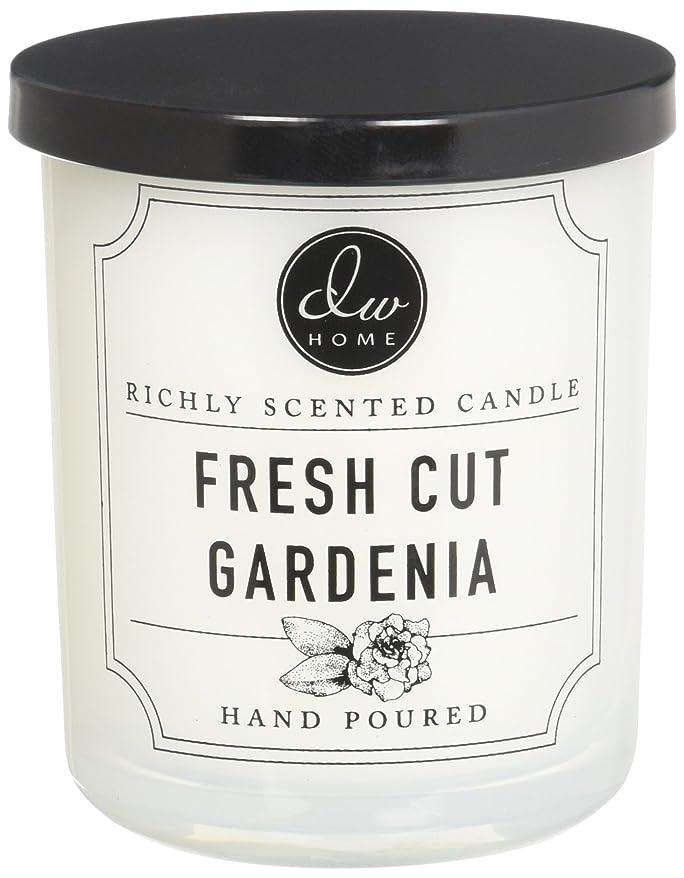 教水没ファイルDWホームFresh Cut Gardenia豊かな香りCandle Small Single Wick 4オンス