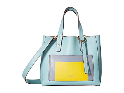 Frances Valentine Joseph Alberz Small Tote (Light Blue/Multi) Tote Handbags