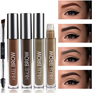 Long Lasting Perfect Dyeing Eyebrow Kit- Eyebrow liquid with duo 2 end eyebrow Brushes-5 colors available (#BLONDE)