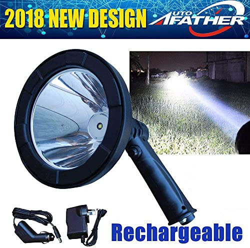 wholesale 5 wholesale Inch Portable Rechargeable LED Spot Light with Charger 12V Waterproof Super Bright Hunting popular Light Searchlight Lightweight, 2 Year Warranty online sale