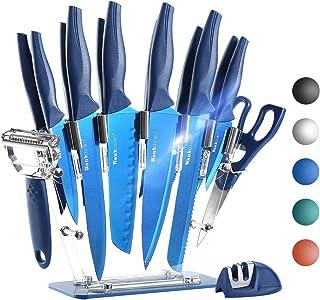 Wanbasion 16 Pieces Kitchen Knife Set Dishwasher Safe, Professional Chef Kitchen Knife Set, Kitchen Knife Set Stainless St...