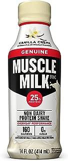 Muscle Milk Genuine Protein Shake, Vanilla Crème, 25g Protein, 14 FL OZ, 12 Count