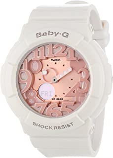 Casio Womens BGA131-7B2 Baby-G Rose Gold and White Resin Digital Watch