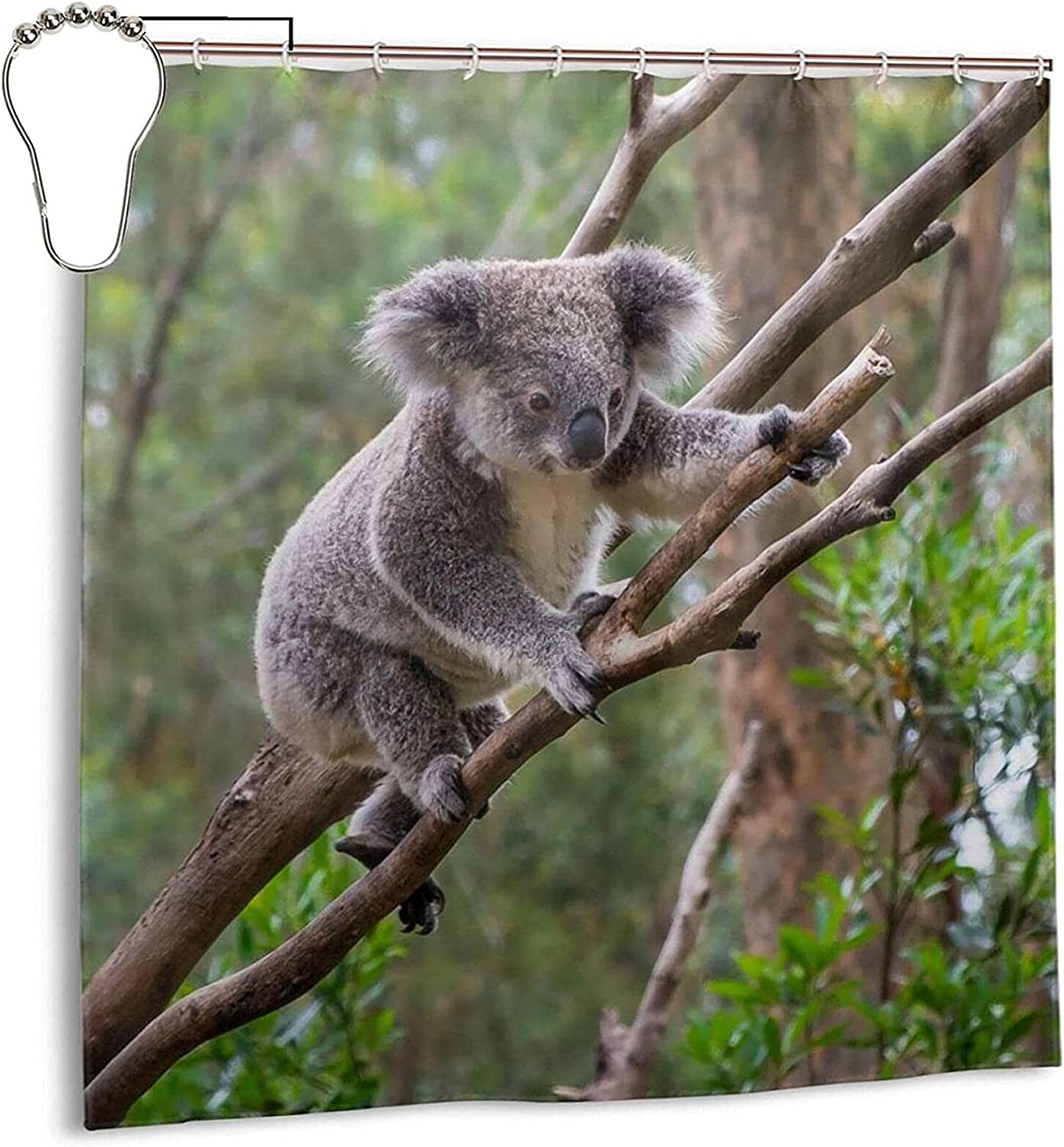 Epushow Bathroom Outlet ☆ Free Shipping Koala Popular Shower w Lining Curtain Windproof