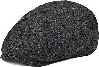 Mens Wool Blend Newsboy Cap 8 Pannel Hat Tweed Cap Herringbone Cabbie Flat Cap