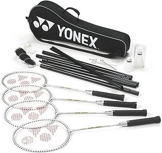 YONEX Badminton Sports 4 Player Set (Racket,Shuttles,Net,Post,& Carry Bag) Only