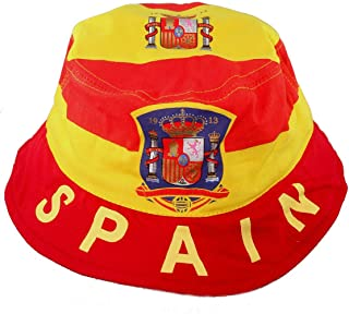 SPAIN KIDS Country Flag BUCKET HAT World Cup Cap. ESPANA size 54 New