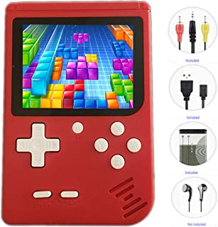 """JJFUN Retro Handheld Games for Kids, 8 Bit Retro 400 Classic Games 3.0"""" LCD Screen Portable Video Game Player Support TV Output Electric Learning Toys Birthday Gifts for Boys Girls Ages 4-12 (RED)"""