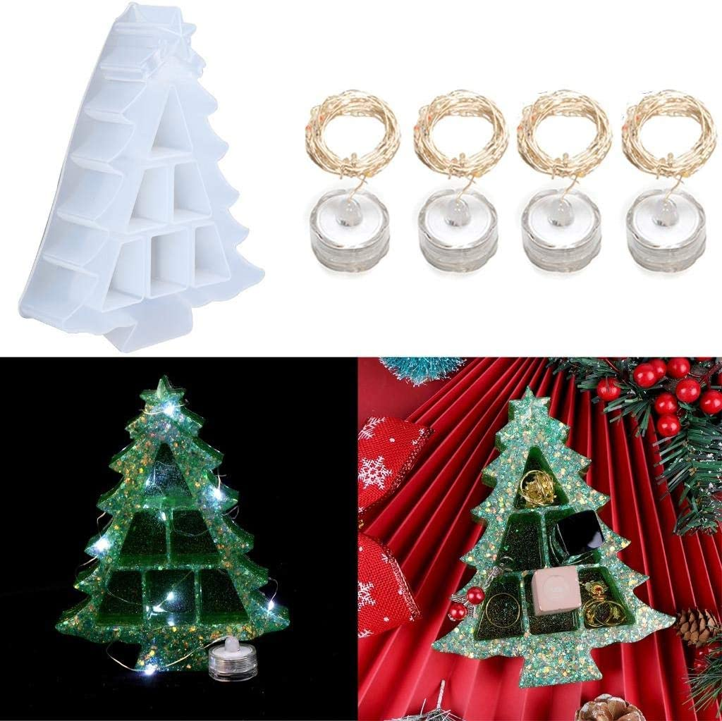 JETTINGBUY Rare 3D Christmas Tree Silicone Epoxy OFFicial site Mold Mol Resin
