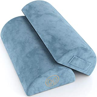 Foot Rest Cushion Under Desk - Pack of Two - Doubles As Back and Knee Support - Half-Moon Ergonomic Memory Foam Footrest Bolster Pillows