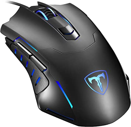Gaming Mouse Wired, Pictek 6 Buttons Ergonomic Optical USB Mouse PC Computer Gaming Mice [