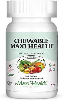 Maxi-Health Chewable Multivitamins & Minerals - Natural Cherry Flavor - 180 Chewies - Kosher (180 Chewies)