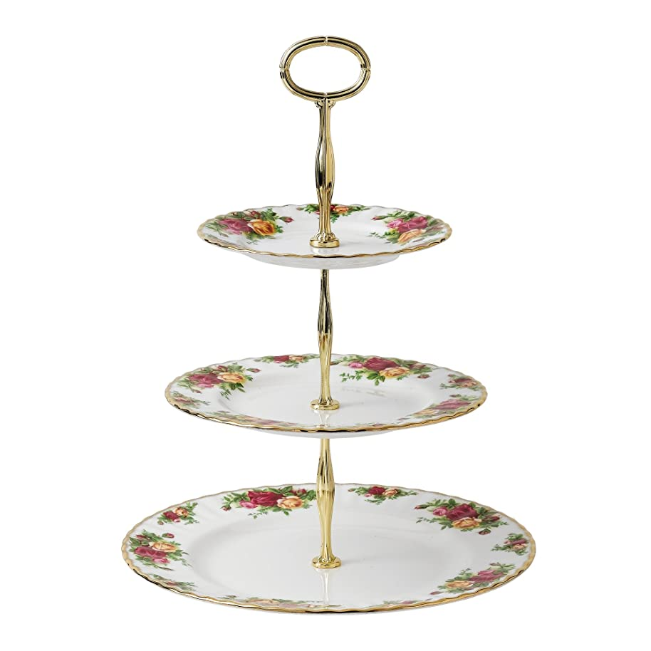 Royal Albert 27400132 Old Country Roses 3-Tier Cake Stand