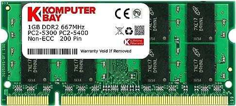 Komputerbay 1GB DDR2 667MHz PC2-5300 PC2-5400 DDR2 667 (200 PIN) SODIMM Laptop Memory