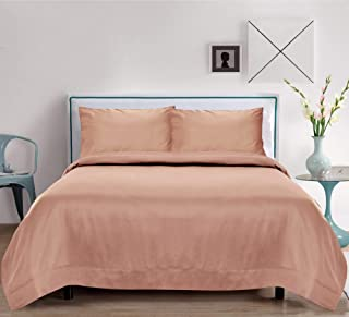 Linenwalas Bamboo Sheets Queen| Christmas 100% Organic Softest Moisture Wicking Deep Pocket Bedding |Silk Like Soft, Light Cooling Luxury Resort Bed Sheet Set (Queen Size, Rose Gold)
