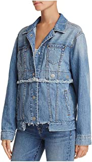 Women's Trucker Jacket Grommeted Snap Jacket