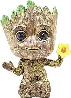 RedDreamer Groot Planter Pot, Baby Groot Flower-Shaped Model Succulent Planter Pot Cute Green Plants Pot Groot Flower Pot, Groot Pen Holder with Hole, Best Gift for Kids, Parents, Friends