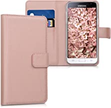 kwmobile Wallet Case for Samsung Galaxy J3 (2016) DUOS - Protective PU Leather Flip Cover with Magnetic Closure, Card Slots and Kickstand