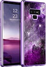 "BENTOBEN Galaxy Note 9 Case, Slim Fit Glow in The Dark Shockproof Hybrid Hard PC Soft TPU Bumper Drop Protective Girls Women Men Phone Cover for Samsung Galaxy Note 9 6.4"", Purple Galaxy"