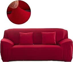 Cornasee Funda de sofá Elastica 3 plazas,Cubierta para sofá con Cuerda de fijación,Rojo
