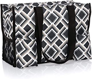 Thirty One Zip Top Organizing Utility Tote (4451) in Deco Diamond