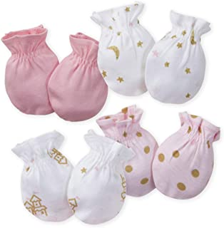 Baby-Girls 4-Pair Mittens